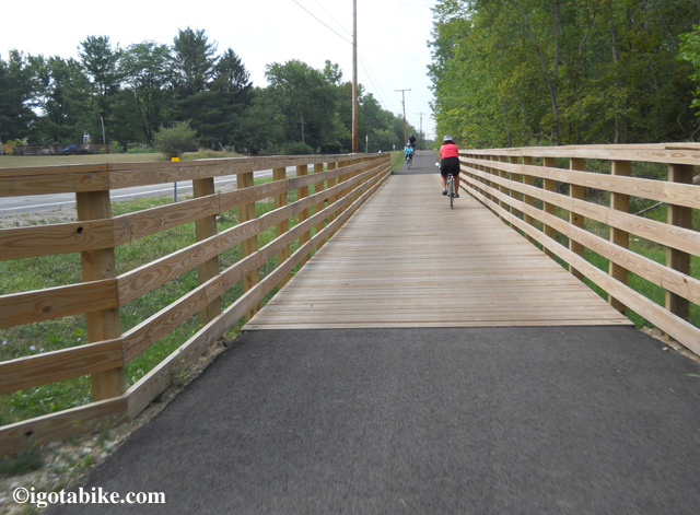 One of the new bridges along Brandywine road closes the gap in the Bike and Hike Trail