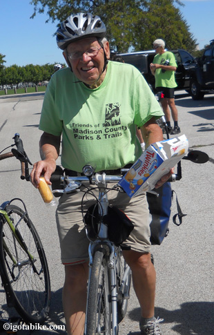 Gene Pass is known to accumulate somewhere between 4000 and 5000 miles on his bicycle every year. We often wondered, what is his secret? Now we know the answer. Twinkies!