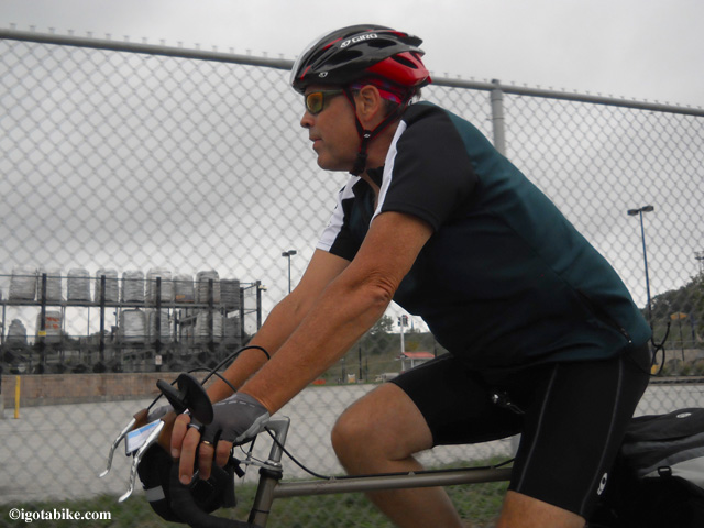 Jim looks ready to ride on day one heading south on the Ohio to Erie Trail.