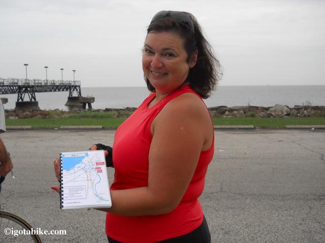 Look Jim printed the igotabike.com map of the Ohio to Erie Trail.