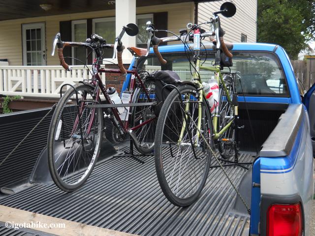 bikes in truck