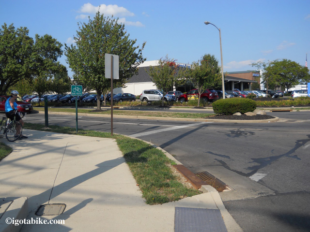 Intersection of Charring Cross Road and Schrock Road where you will find the Westerville bike trail terminus.