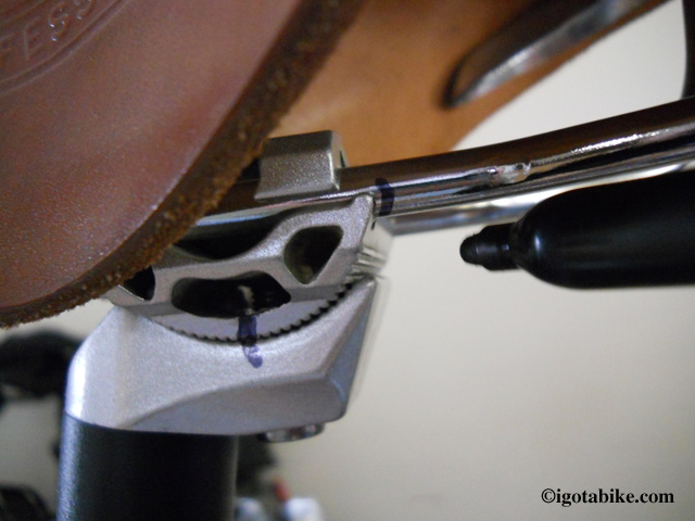 Brooks saddle position