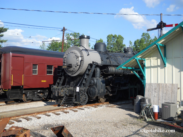 There is a lot to see at the Ohio Railway Museum and it makes an un-missable landmark to turn right onto E North Street from Proprietors Road. (unless you are so busy looking at the the trains that you fail to notice that E North is directly across the street from the trains!)