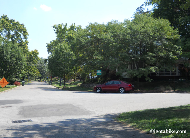No worries as the trail goes on the road in Clintonville. It is well signed as it continues south through the neighborhood full of beautiful homes and gardens. Your only worry will be trying to figure out why you don't live here, right on the trail!