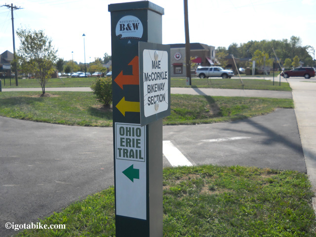 Ohio To Erie Trail Through Columbus with map, south to north ...