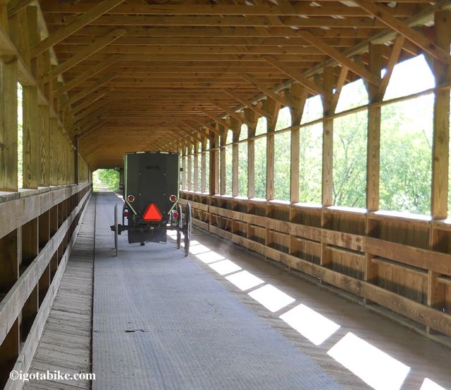 Amish Buggy on The Bridge of Dreams
