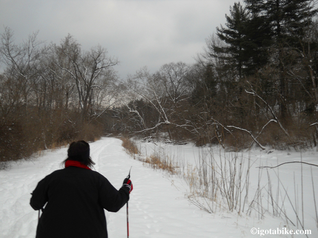 Ohio and Erie Canal Towpath buried under a foot of snow but the Cuyahoga Valley is as pretty as ever.